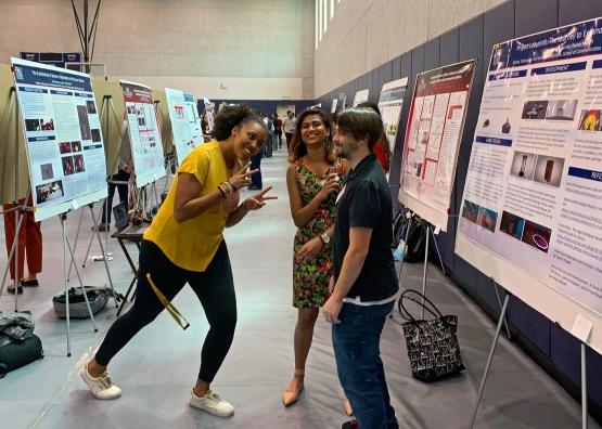 Grad Research Day Raven, Monisha, and John
