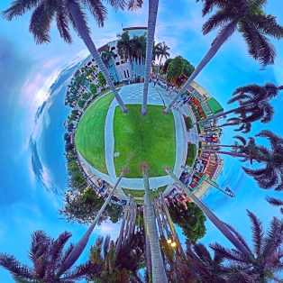"""Quiet Before the Dancing"" Delray Beach tiny world digital composite by Topher Maraffi, 2019."
