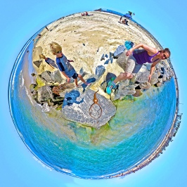"""Aliens Among Us"" Huntington Beach 360 Joiner digital composite by Topher Maraffi, 2018"