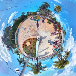 """Broadwalk Joiner"" Hollywood Beach 360 tiny world digital composite by Topher Maraffi, 2019."