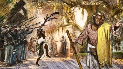 Mitchelville Prepro: Emancipation Day concept art by Topher Maraffi, Fall 2019.