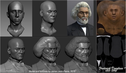 Mitchelville Project, Frederick Douglass Model Time Lapse by James Jean-Pierre, Fall 2019.