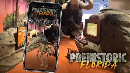 Prehistoric Florida MODS MFA AR Project, Preproduction Design by Richie Christian, Fall 2019.