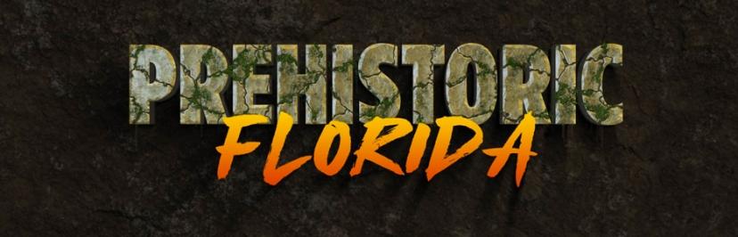 Prehistoric Florida header logo designed by Richi Christion, FAU 2019.