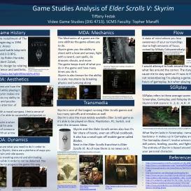 Tiffany Fedak, Game Analysis Poster, Spring 2020