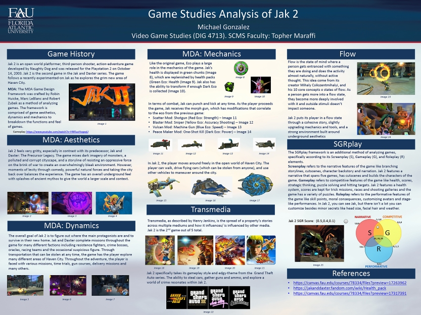 Mike Gonzalez, Game Analysis Poster, Spring 2020