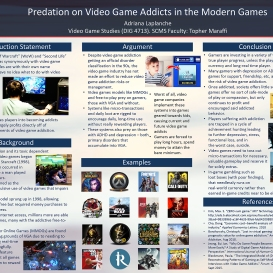 Adriana Laplanche, Game Studies Final Poster, Spring 2020