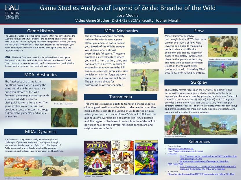 Jose Medina, Game Analysis Poster, Spring 2020