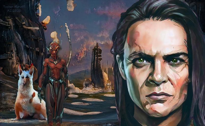 Frankenstein AI Concept Art, Maraffi 2020.