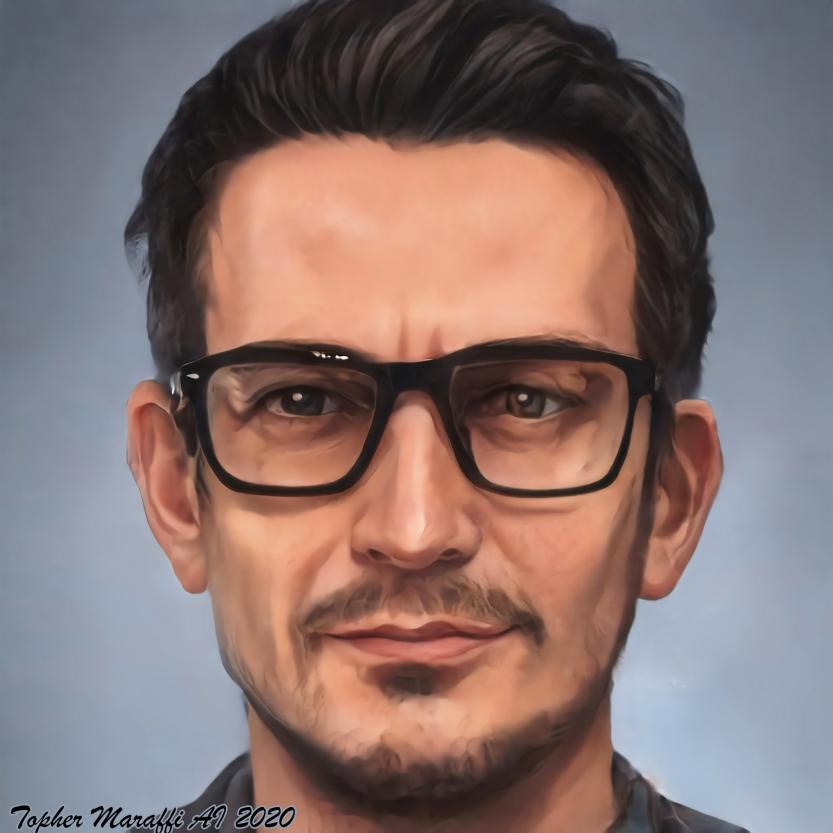 Topher AI Self Portrait 2020