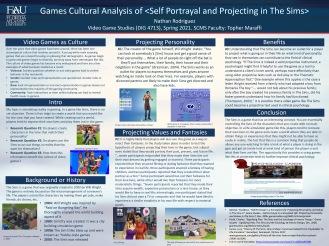 Game Studies Final Poster, Rodriguez, Spring 2021